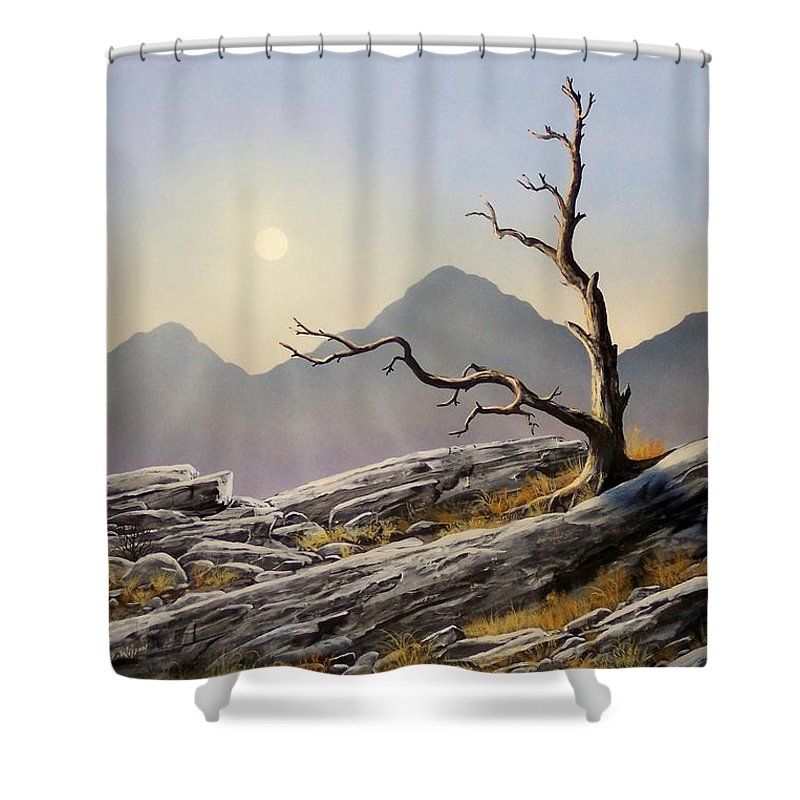 Still Standing Shower Curtain featuring the painting Still Standing by Frank Wilson
