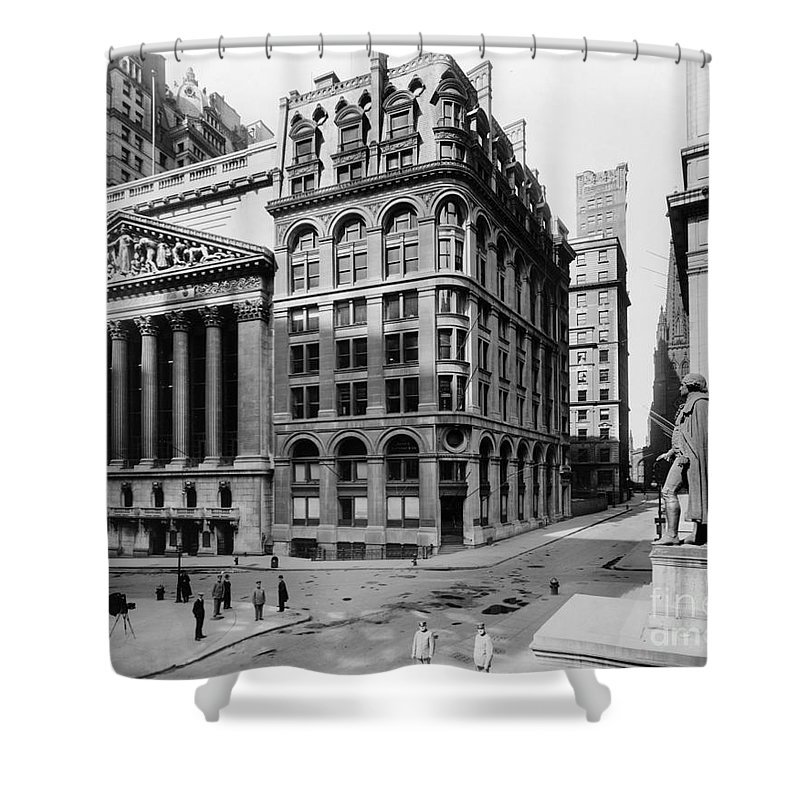 1908 Shower Curtain featuring the photograph Stock Exchange, C1908 by Granger