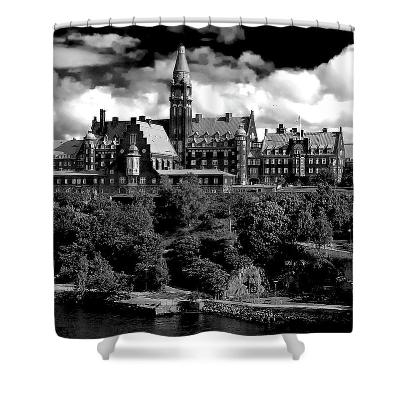 Ian Watts Shower Curtain featuring the photograph Stockholm Architecture by Ian Watts
