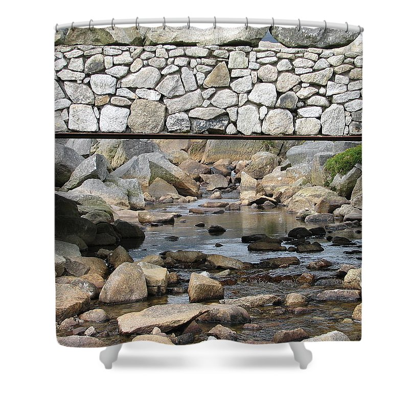 Stone Shower Curtain featuring the photograph Stone Bridge by Kelly Mezzapelle