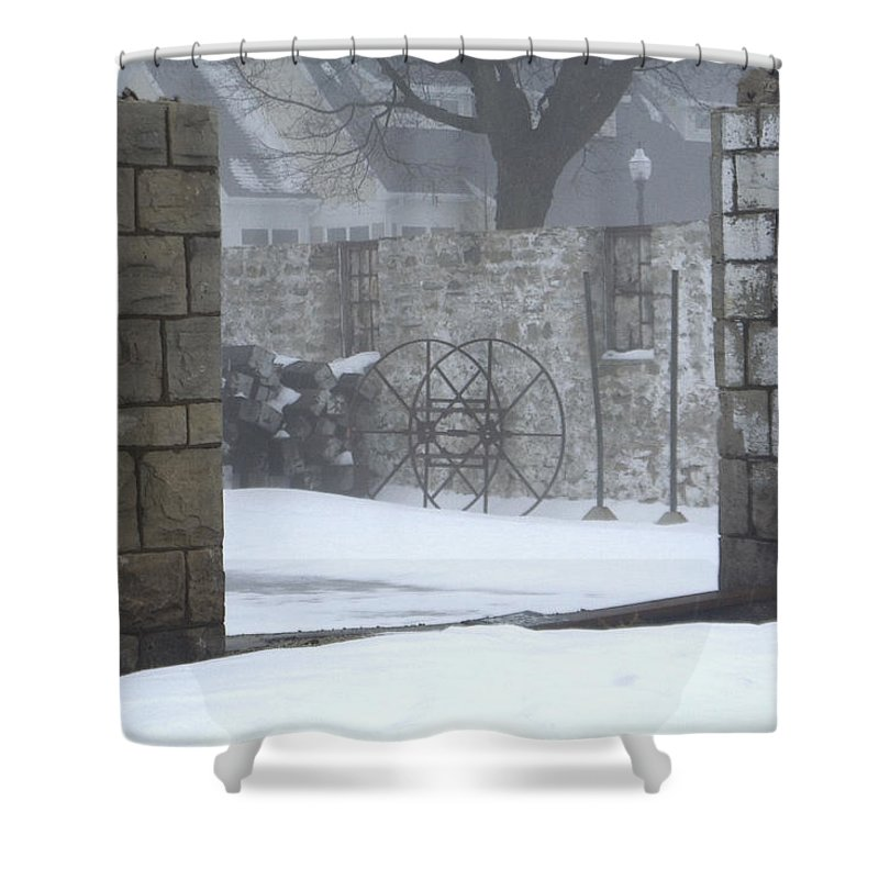 Winter Shower Curtain featuring the photograph Stone Cellar by Tim Nyberg