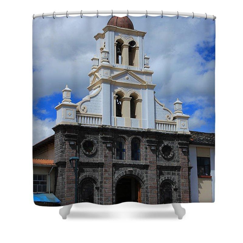 Church Shower Curtain featuring the photograph Stone Church by Robert Hamm