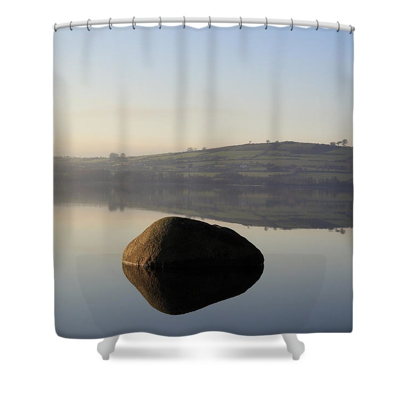 Landscape Shower Curtain featuring the photograph Stone Egg by Phil Crean
