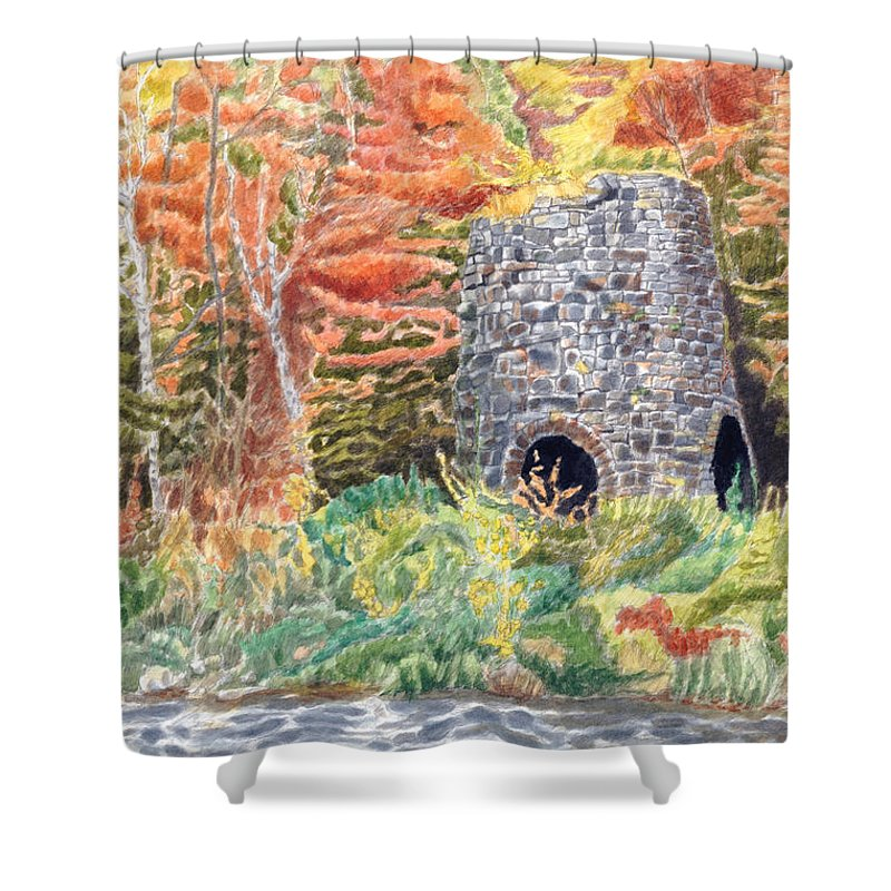 Stones Shower Curtain featuring the painting Stone Furnace by Dominic White