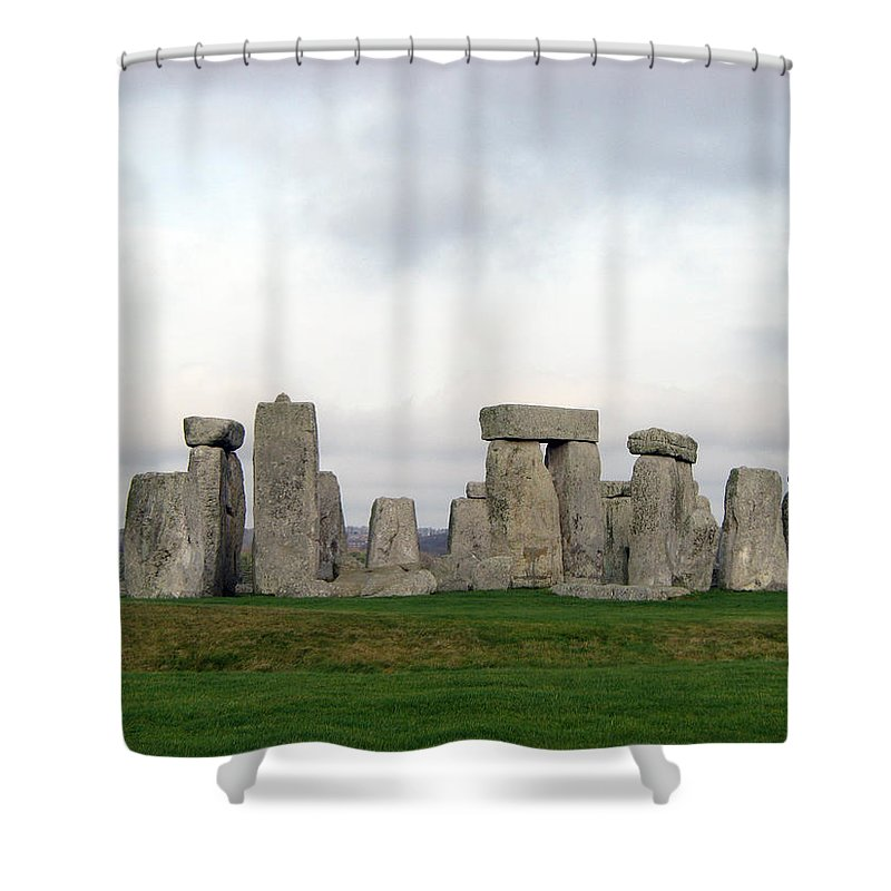 Stonehenge Shower Curtain featuring the photograph Stonehenge by Amanda Barcon