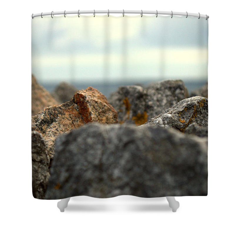 Stones Shower Curtain featuring the photograph Stones by Chirag Patel