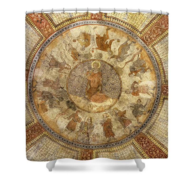 France Shower Curtain featuring the photograph Stoning Of Saint Etienne Frescoes Cahors by RicardMN Photography