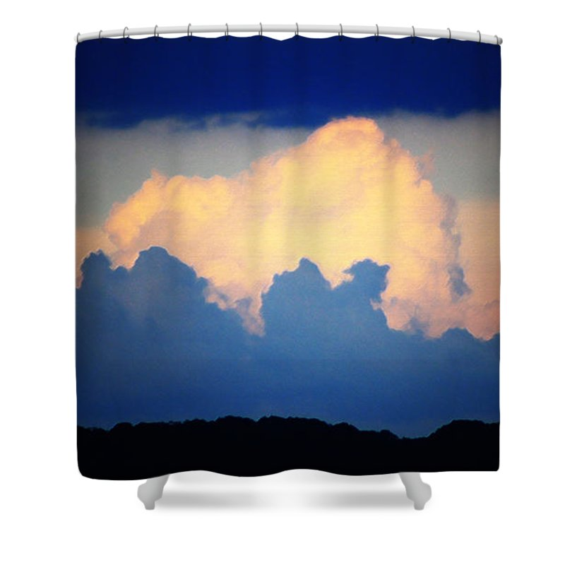 West Shower Curtain featuring the digital art Storm Approaching Painting by Teresa Mucha