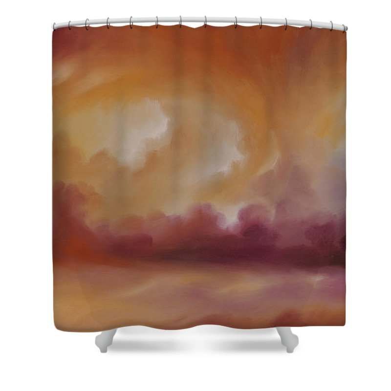 Tempest Shower Curtain featuring the painting Storm Clouds 2 by James Christopher Hill