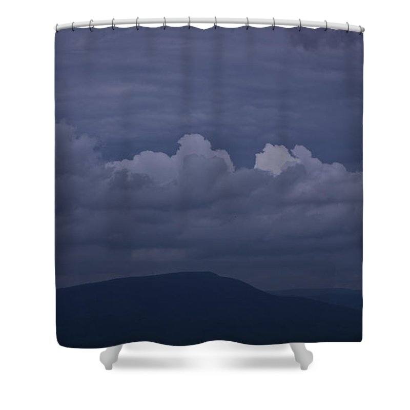 Roanoke Shower Curtain featuring the photograph Storm Clouds Over The Valley by Teresa Mucha