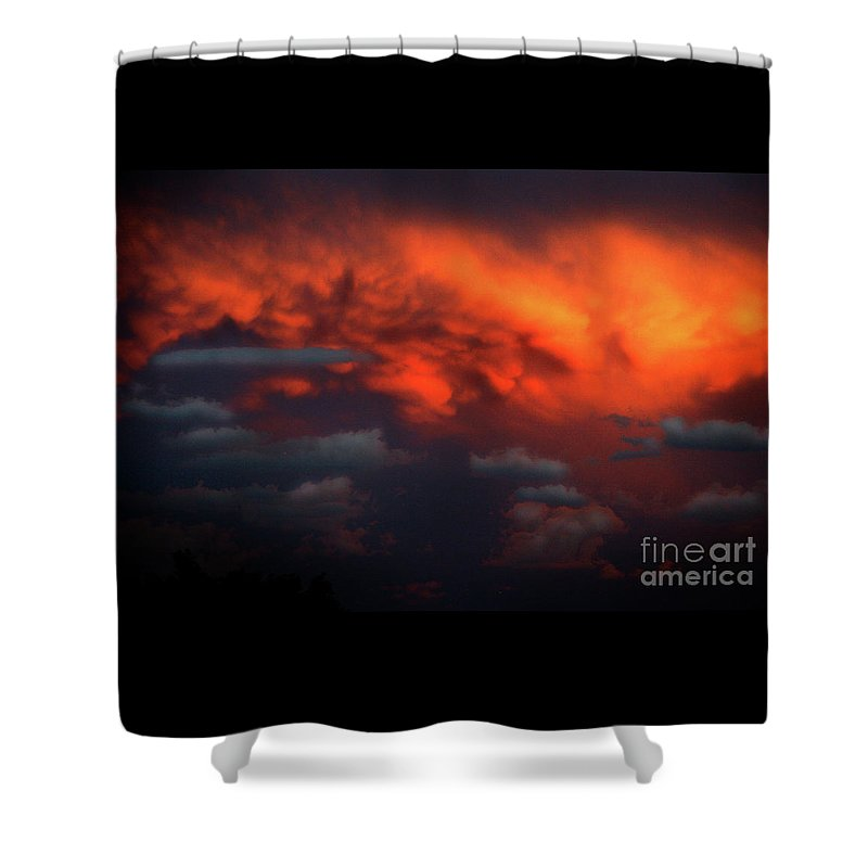 Storm Clouds Shower Curtain featuring the photograph Storm Clouds by Timothy Sanford