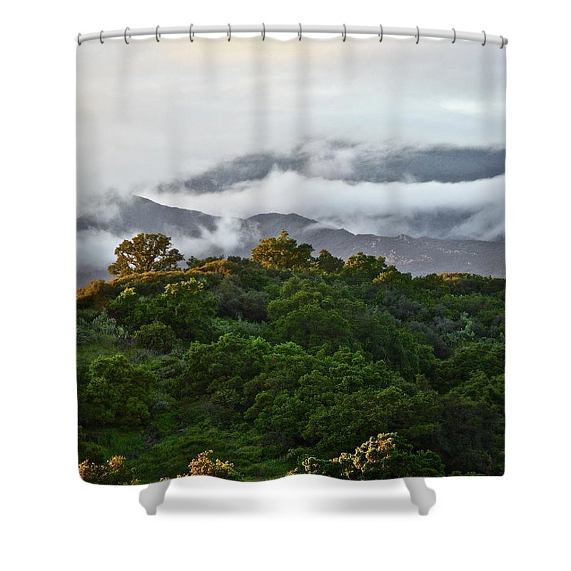 Mountains Shower Curtain featuring the photograph Storm Coming by Diana Hatcher