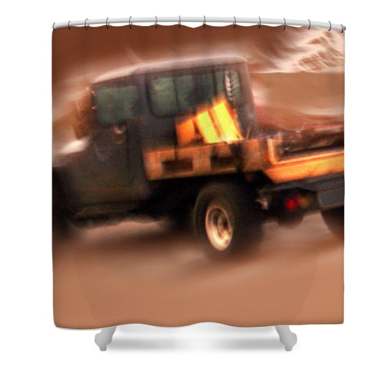 Storm Shower Curtain featuring the photograph Still Truckin' by Gerry Tetz