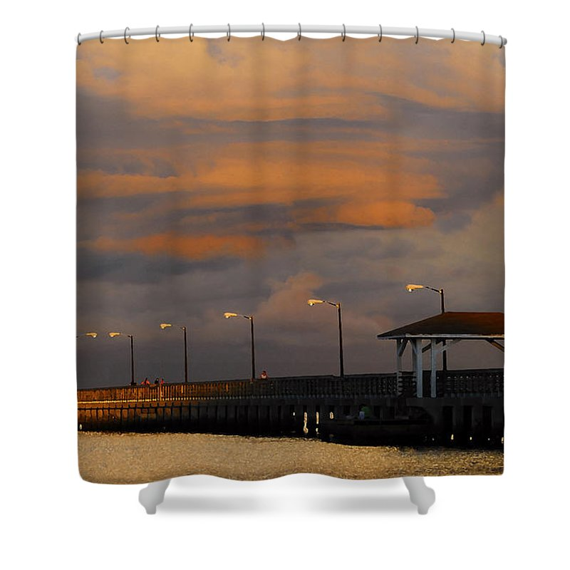 Storm Shower Curtain featuring the photograph Storm Over Ballast Point by David Lee Thompson
