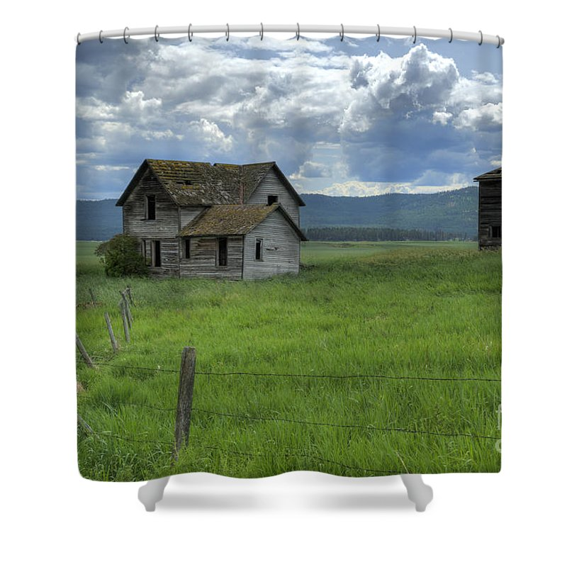 Hdr Shower Curtain featuring the photograph Storm Over Big Sky by Sandra Bronstein