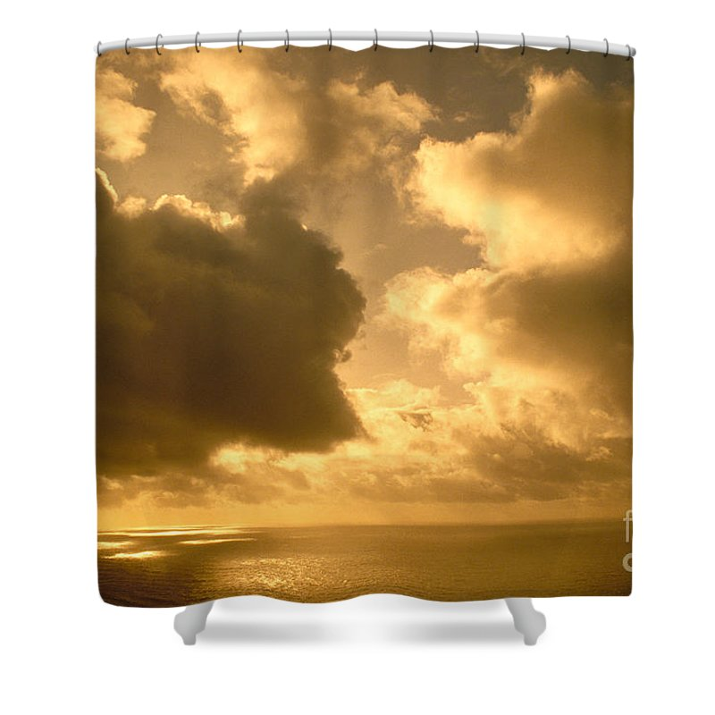 Afternoon Shower Curtain featuring the photograph Storm Over Ocean by Greg Vaughn - Printscapes