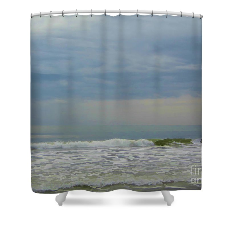 Sunrise Shower Curtain featuring the photograph Storm Over The Atlantic by D Hackett