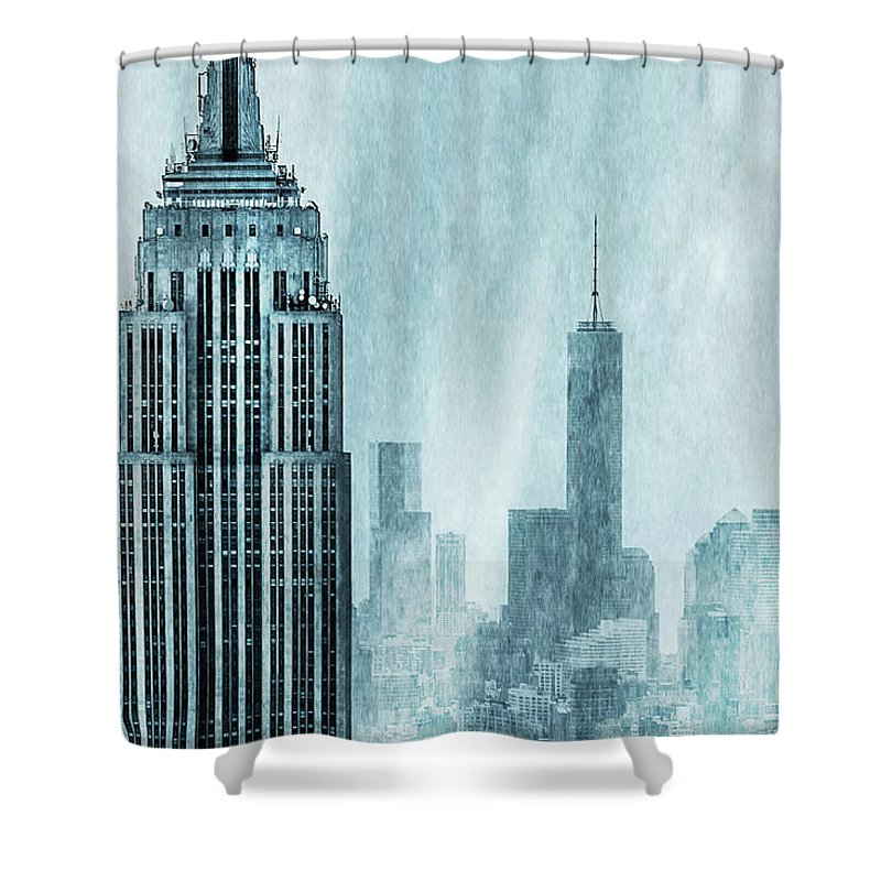 Empire State Building Shower Curtains