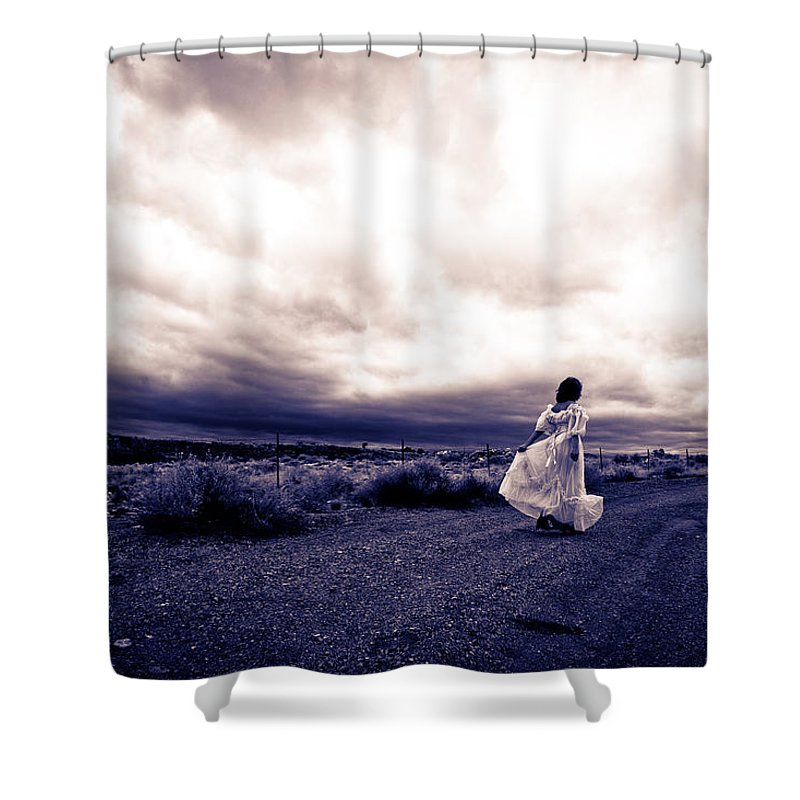 Storm Walk Shower Curtain featuring the photograph Storm Walk by Scott Sawyer