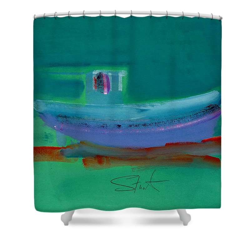 Deep Shower Curtain featuring the painting Stormbringer by Charles Stuart