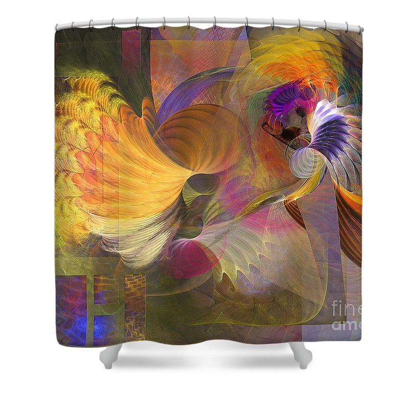 Storms On Sheridan Shower Curtain featuring the digital art Storms On Sheridan by John Beck