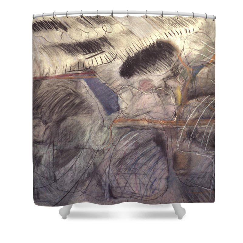 Pastel Shower Curtain featuring the painting Storms by Richard Baron