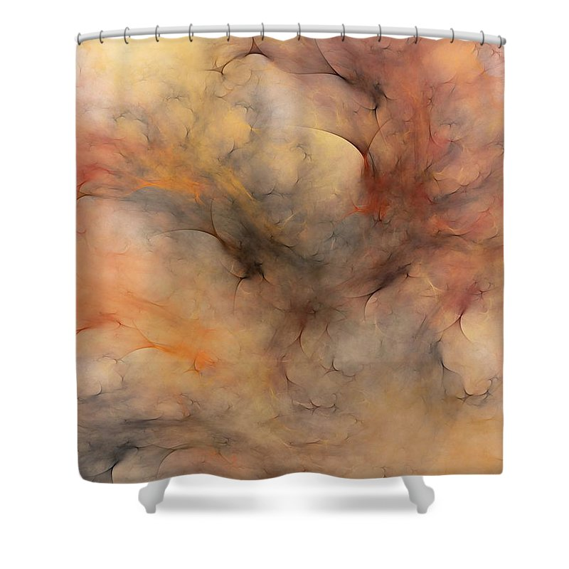 Abstract Shower Curtain featuring the digital art Stormy by David Lane