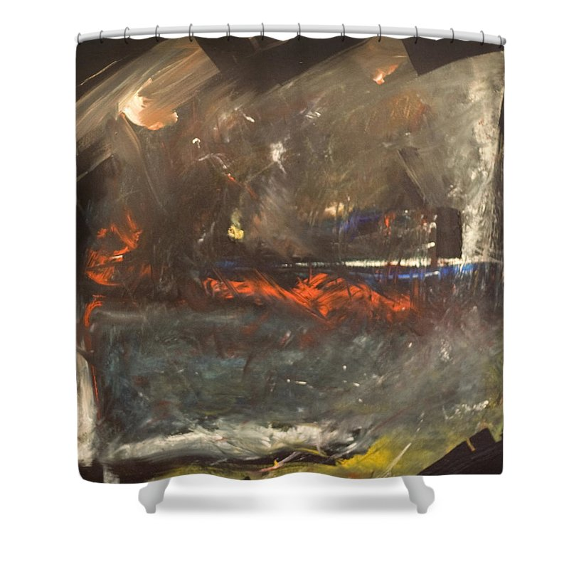 Storm Shower Curtain featuring the painting Stormy Monday by Tim Nyberg