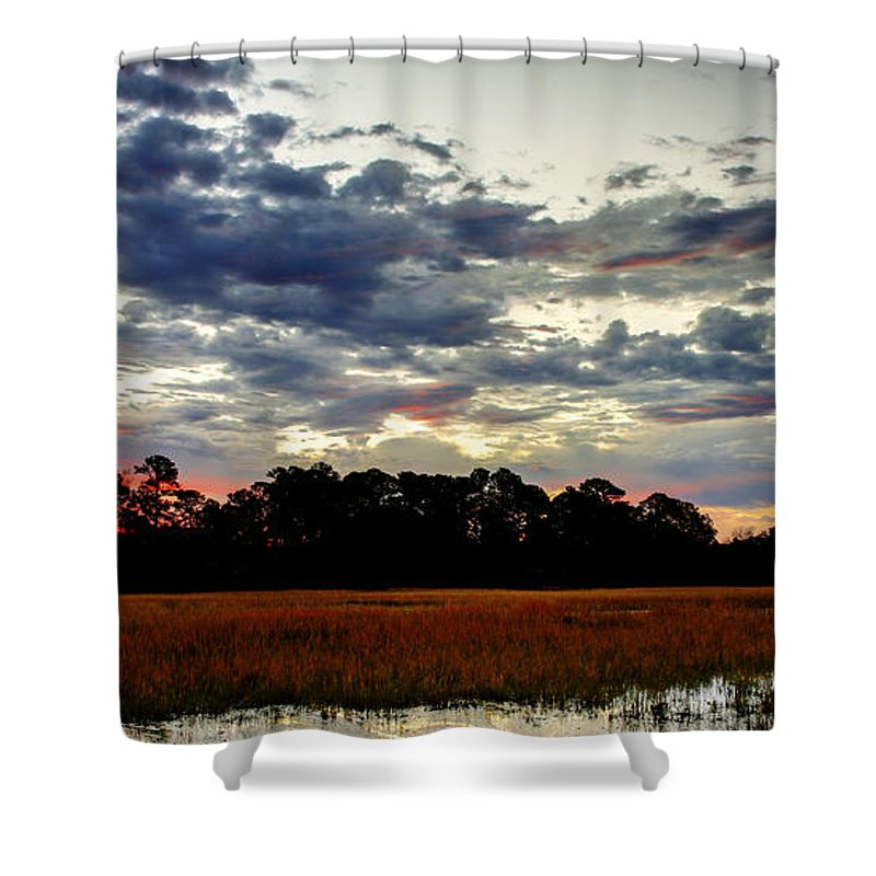 Canvas Shower Curtain featuring the photograph Stormy Morning by Phill Doherty