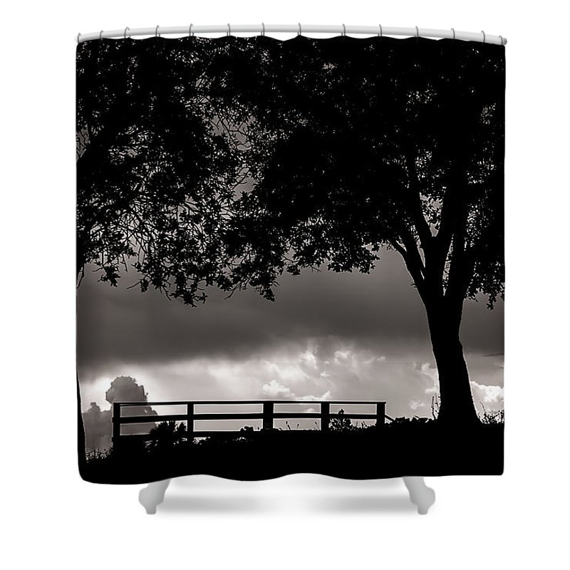 Nature Shower Curtain featuring the photograph Stormy Skies by Camille Lopez