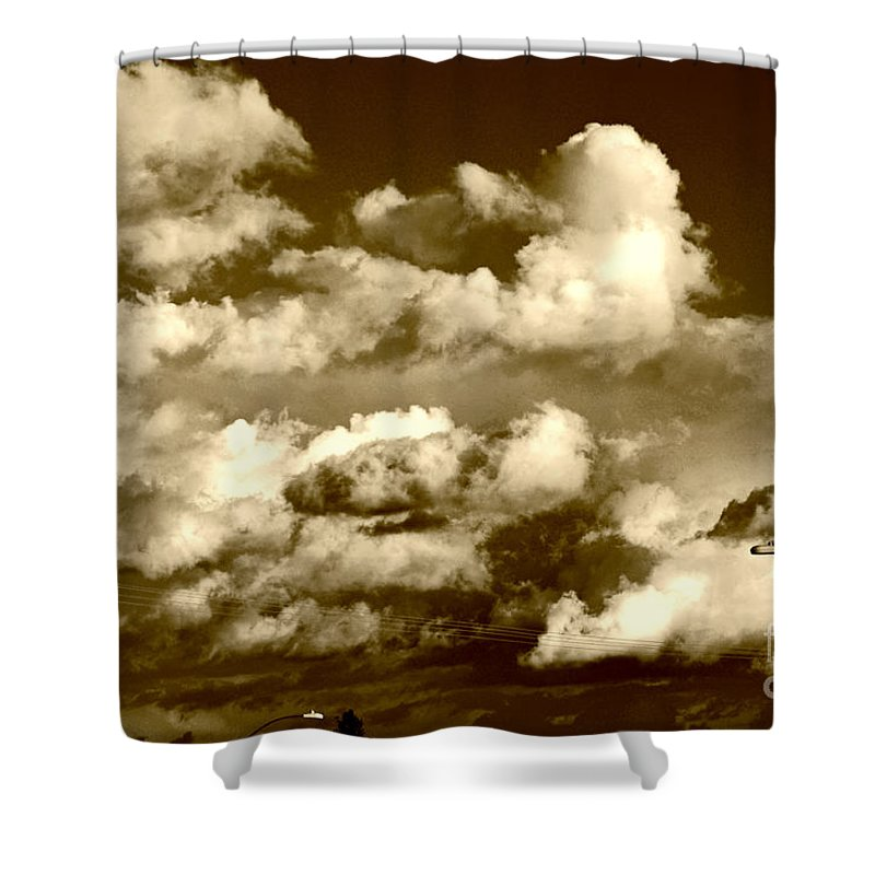 Clay Shower Curtain featuring the photograph Stormy Skies In Socal by Clayton Bruster