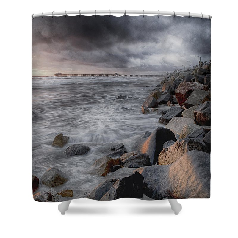 Oceanside Shower Curtain featuring the photograph Stormy Weather by Nicole Swanger