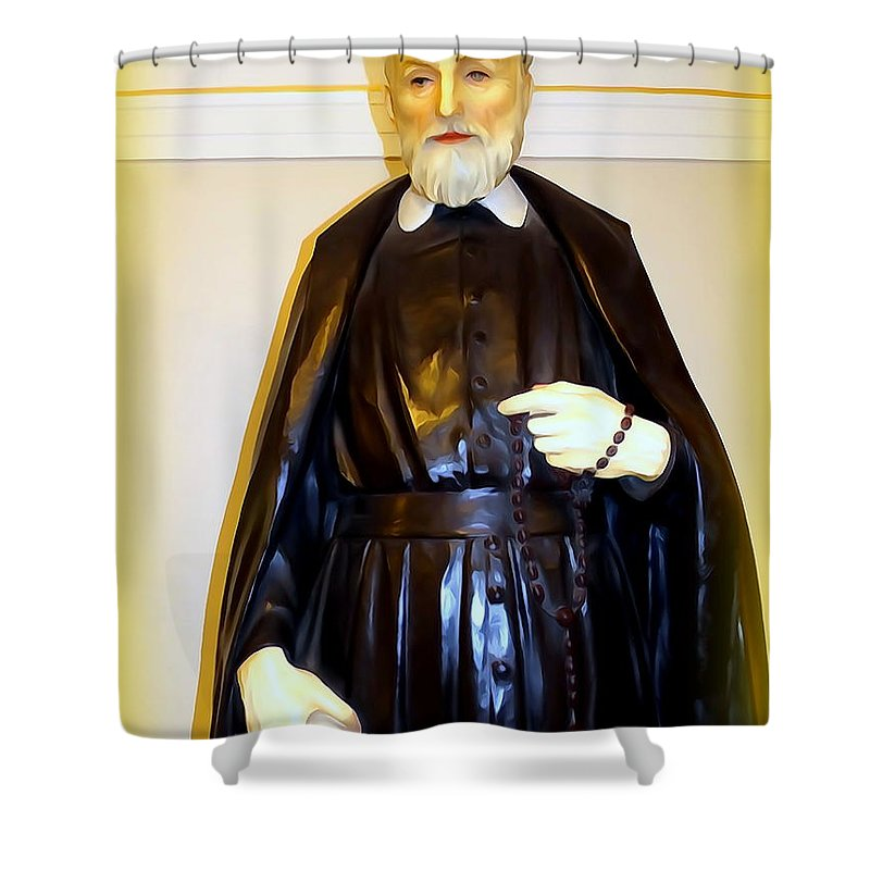 Digital Shower Curtain featuring the photograph St.philip Neri by Ed Weidman