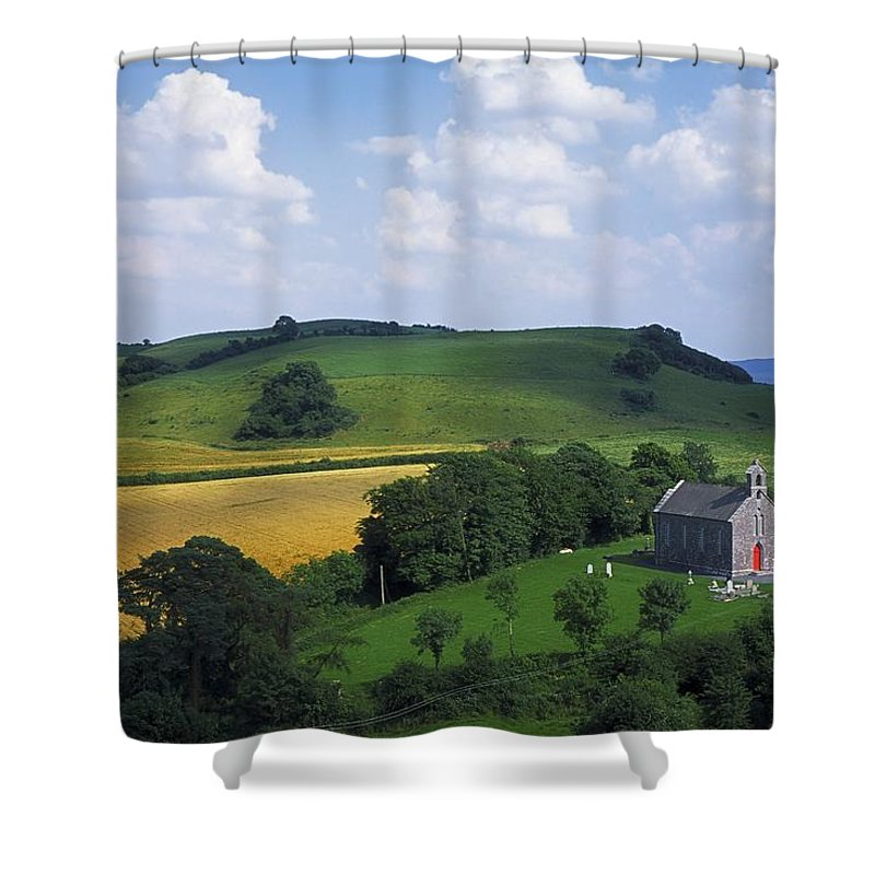Church Shower Curtain featuring the photograph Stradbally, Co Laois, Ireland Church by The Irish Image Collection