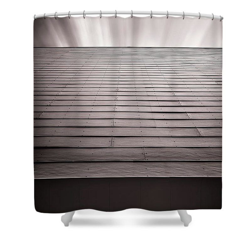 Architecture Shower Curtain featuring the photograph Straight Line Above by Scott Norris