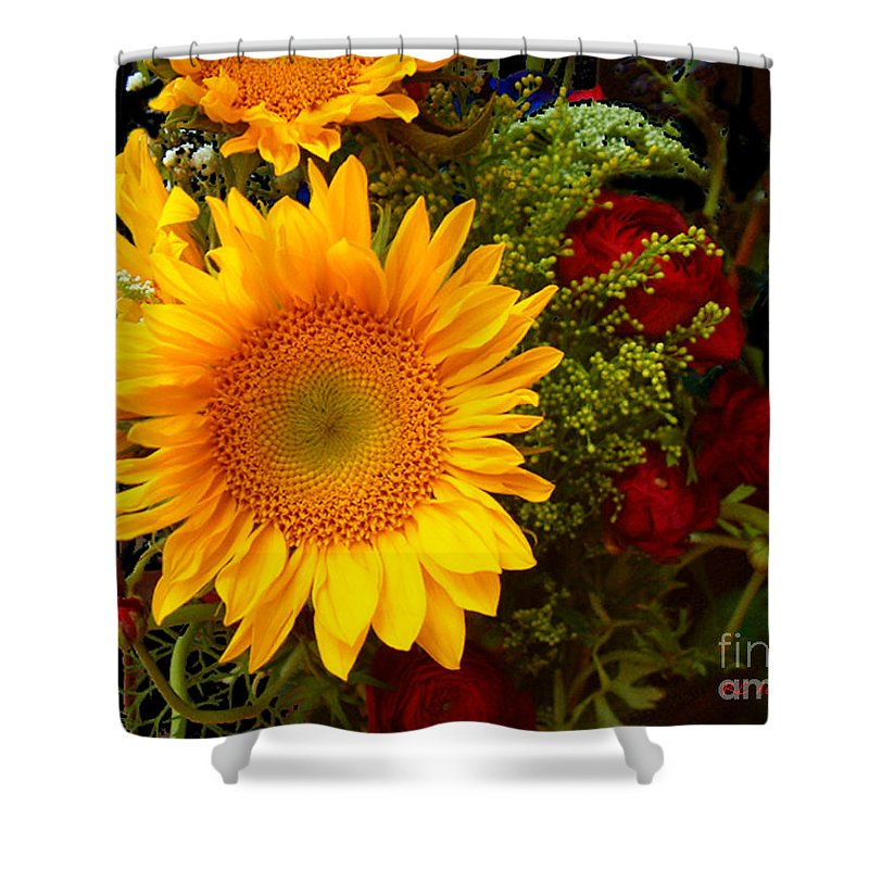 Sunflower Shower Curtain featuring the photograph Straight No Chaser by RC DeWinter