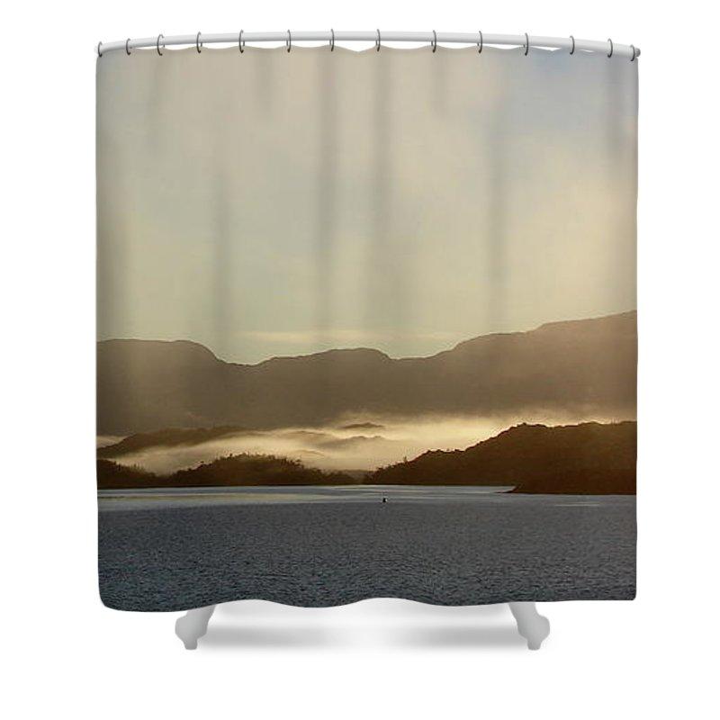 Straits Of Magellan Shower Curtain featuring the photograph Straits Of Magellan Vi by Brett Winn
