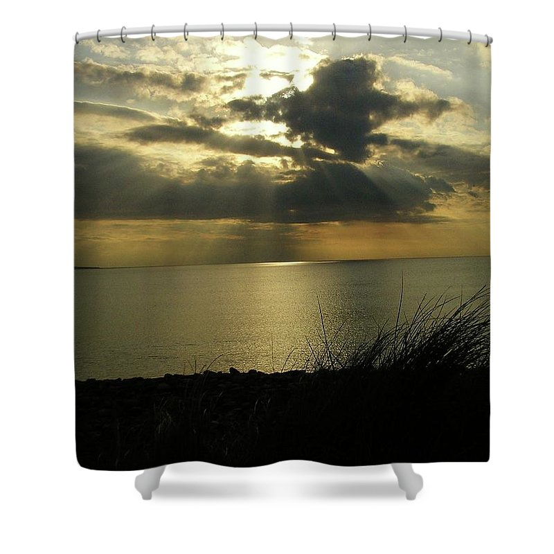 Seascape Shower Curtain featuring the photograph Strandhill Co Sligo Ireland by Louise Macarthur Art and Photography