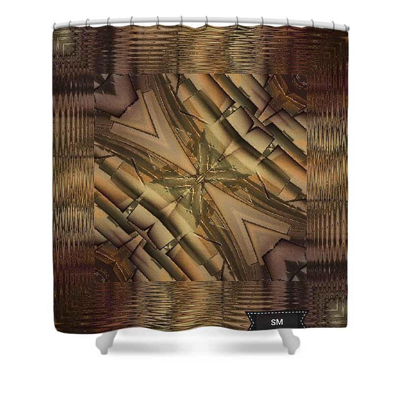 Strange Art Weird Bizarre Spooky Shower Curtain featuring the painting Strange Abstract by Sheila Mcdonald