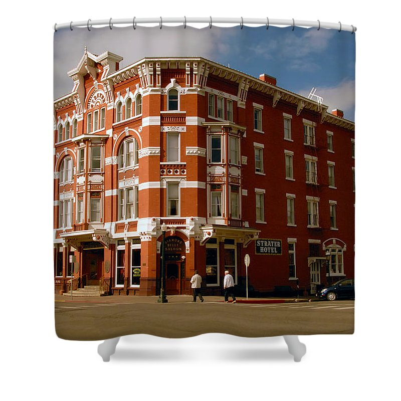Strater Hotel Durango Colorado Shower Curtain featuring the photograph Strater Hotel 1887 by David Lee Thompson