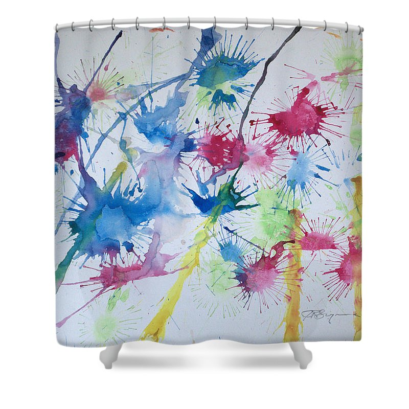 Straw Blown Painting Shower Curtain featuring the painting Straw Blown by J R Seymour