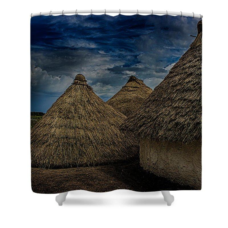Mud Hut Shower Curtains