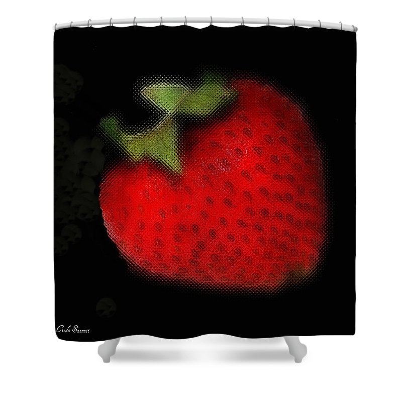 Still Life Shower Curtain featuring the photograph Strawberry by Linda Sannuti