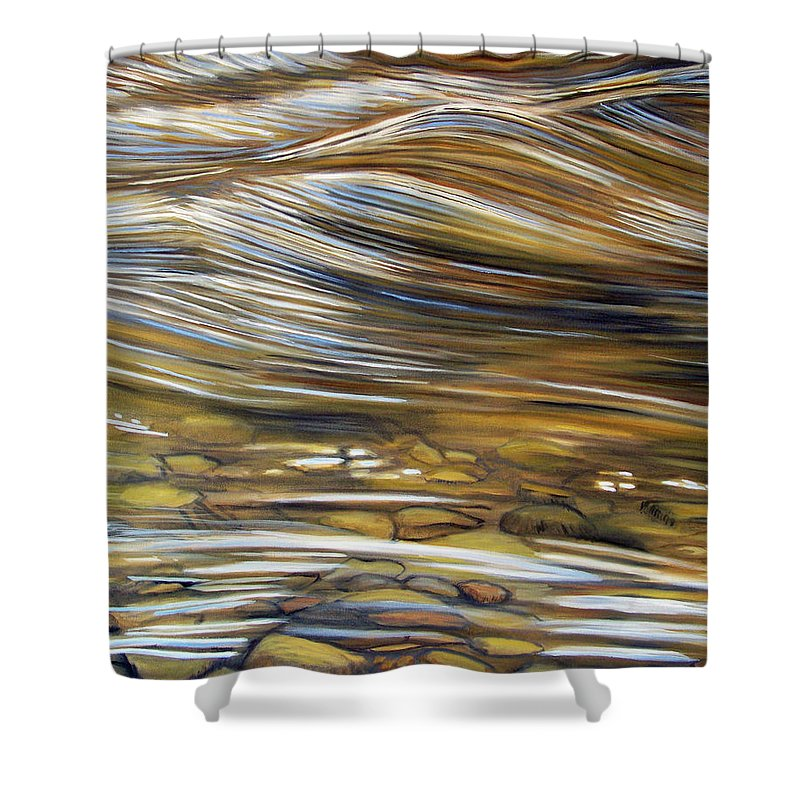 Water Shower Curtain featuring the painting Stream Of Consciousness by Brian Commerford