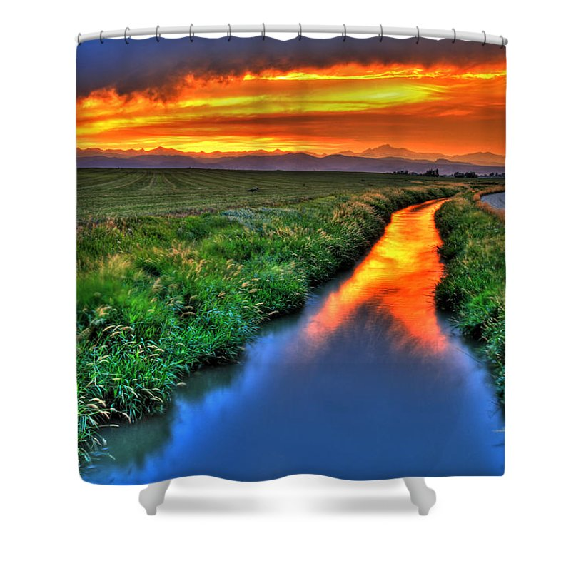 Colorado Shower Curtain featuring the photograph Stream Of Light by Scott Mahon