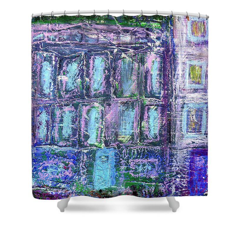 Street Shower Curtain featuring the painting Street Life by Wayne Potrafka
