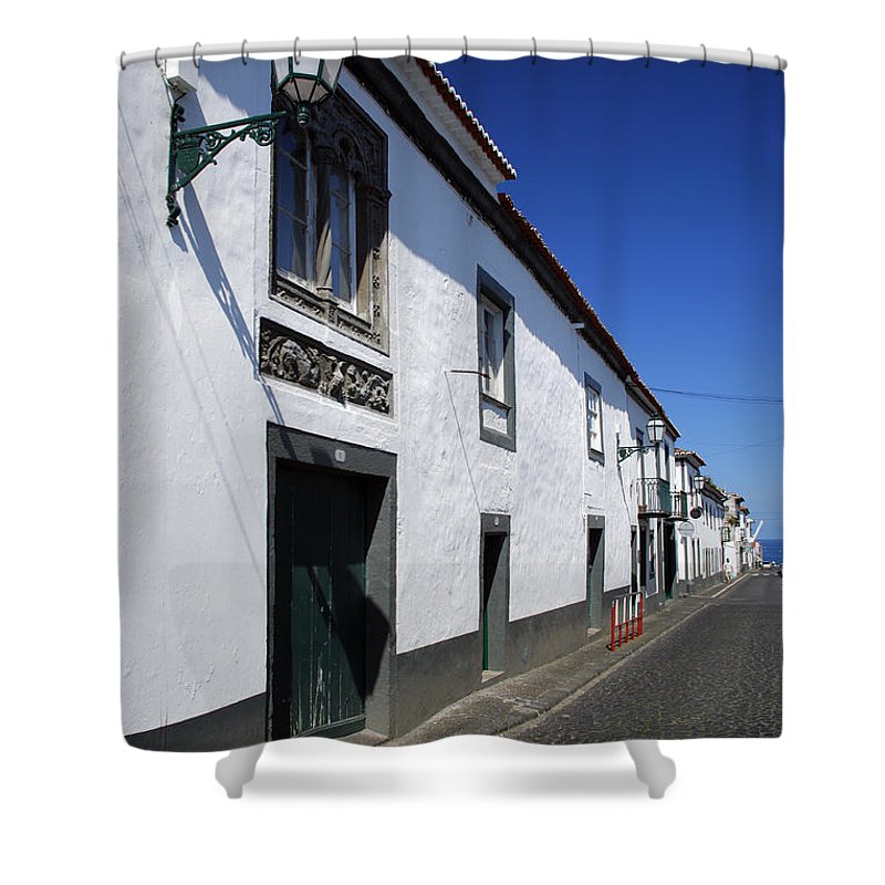 Portugal Shower Curtain featuring the photograph Streets Of Ribeira Grande by Gaspar Avila
