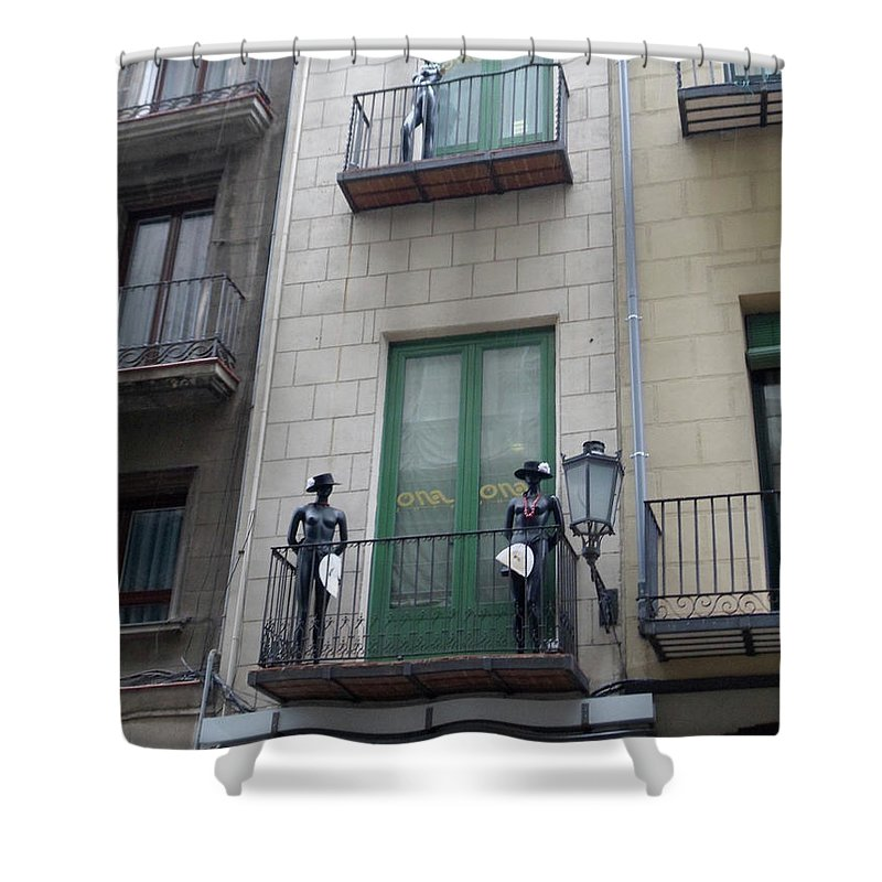 Mannequins Shower Curtain featuring the photograph Strike A Pose by Marwan George Khoury