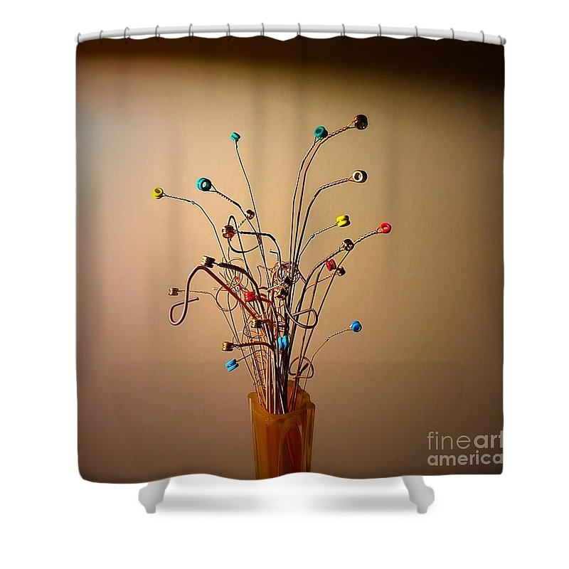 Bouquet Shower Curtain featuring the photograph String Bouquet by Eddy Mann