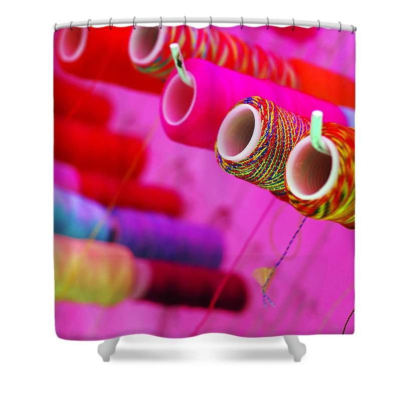 Color Shower Curtain featuring the photograph String Theory by Skip Hunt